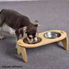 Feeding Watering Raised Cat Bowl Food Storage Puppy With Stand Tilted Easy Clean