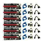 PCI-E 009S Riser Card PCIe 1x to 16x USB 3.0 Red Data Cable Bitcoin Mining