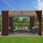 Thermal Outdoor Grommet Blackout Window Porch Curtains 2 Panels Sun Blocking