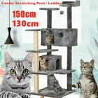130/150cm Large Cat Tree Climbing Tower Scratching Post Activity Centre Toy Bed