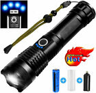 Super Bright 900000LM LED Torch Tactical Flashlight USB Rechargeable XHP+Battery
