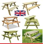 Picnic Table And Bench Set Wooden Outdoor Garden Furniture, Pub Bench 4 Choose