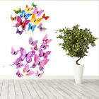 12 Pcs 3d Butterfly Wall Stickers Home Room Decorations Art Decals Decor Bedroom