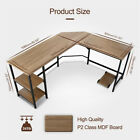 L Shaped Wood Computer Desk Laptop Table Workstation Study Home Office o