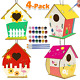Kids Activities Art and Crafts for Kids 4-Pack DIY Bird House Kit for Children photo