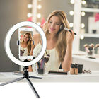 """TBJSM 10-18"""" LED Ring Light Kit with Stand Dimmable 5600K/6000K For Phone Makeup"""