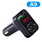 FM Bluetooth Transmitter In Car MP3 Radio Wireless Adapter Car Kit USB+LED Cable
