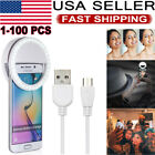 Portable Selfie LED Camera Ring Flash Fill Light For IPhone Mobile Phone Lot