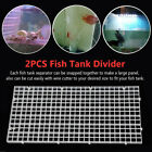2pcs Replacement Parts,Fish Tank Divider Isolation Board Free Cut Filtration Net