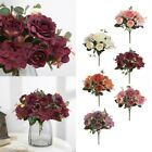 Silk Cloth Peony Artificial Flowers Bunch Wedding Bouquet Home Party Decor