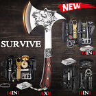 Camping Axe Tactical Survival Axe Kit Hunting Hatchet EDC Emergency Gear Tools