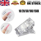 10/20/150Pcs Nail Tips Clip Quick Building Poly UV Builder Gel Extension Clamp