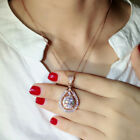 14k Rose Gold Plated Necklaces Pendants Fashion Cubic Zirconia Engagement Gifts