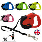 Durable Retractable Dog Leads Nylon Lead Extending Puppy Running Walking Leash