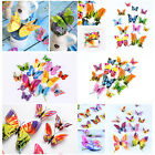12x 3d Butterfly Wall Stickers Colorful Home Decor Room Art Mural Sticker Decal