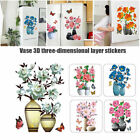 Wall Stickers Flowers Diy Plant Vase 3d Stere Self Adhesive Decor For Home Room