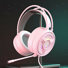PSH-200 3.5mm Wired Gaming Headset Headphones w/Mic LED Light for PC Laptop