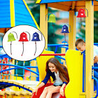 Toys Bell Kids Playground Science Hanging Bell for Outdoor Wooden Swing Set