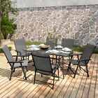 5pcs/ 7 Pieces Bistro Set Glass Garden Patio Table Chairs Seating Furniture Sets