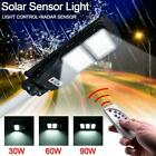 US 60/90W LED Solar Street Wall Light Radar Induction Outdoor Lamp with Remote