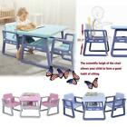 NEW Kid HDPE Table and Chair Set Furniture Activity Toddler Toy Play Home Indoor