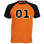 01 General Lee Baseball T-Shirt - Dukes Of Hazzard Fan Film Unisex Mens Gift Top