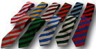 School Uniform Ties - Broad Stripes - Many Colour Combinations - Adult Length
