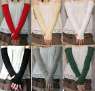 Pair of Soft Stretchy Long Sleeve Fingerless Gloves