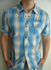 FIRETRAP HEMD steak blau FEBT47 Shirt S M XL XXL