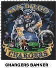 NFL San Diego Chargers Mascot cross stitch pattern $16.99 USD