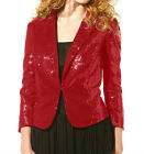 Patricia Pat Field Sequined Blazer Jacket RED $139.90 **RUNS SMALL**