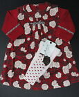 NWT MINIMAN La Petite Ourse Dress & Tights SET 3m 6m 9m