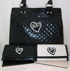 GUESS EUCLID Heart Logo Quilted Bag Purse Sac Wallet