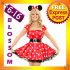 893 Ladies Minnie Mickey Mouse Fancy Dress Up Costume