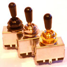 Guitar toggle switch 3 way chrome black or gold