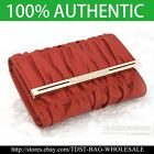 [OMNIA]Crystal Korean Ladies Genuine Leather Wallet Women Trifold Purse 341M RED image