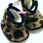 Baby Fur Feel Animal Print Bootees Beige & Brown or Cream & Brown 6mth to 15mths