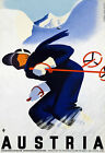 T49 Vintage Austria Skiing Tour Travel Poster A1 A2 A3