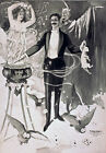 M65 Vintage B&W Magic Magician Theatre Poster A1 A2 A3