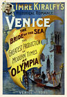 TH6 Vintage 1890's Venice Theatre Poster Print A1 A2 A3