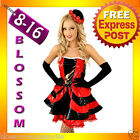 B90 MOULIN ROUGE BURLESQUE Ladies SALOON GIRL Can Can Fancy Dress Costume