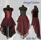 Corset Wedding Dress Gothic Prom Red Halloween Custom Made US Size 20-26 1480