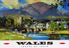 TT98 Vintage Wales By Train Railway Travel Poster Re-Print A3 A2