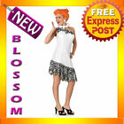 C8 Wilma Flintstones Women Fancy Dress Costume S M