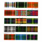 Berisfords 10mm Tartan Ribbon Choice of 17 Colours