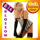 5057 Overbust Floral Moulin Rouge Burlesque Corset Lace Up Bustier Lingerie