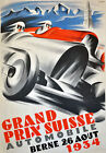 "AD89 Vintage 1934 Swiss Grand Prix Motor Racing Advertisment Poster A3 17""x12"""