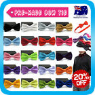 Bow Tie Tuxedo Wedding Bowtie Groom Bestman Party Korean Silk Double Bows*Solid