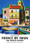 TU97 Vintage French France Riviera Railways Travel Poster A2 A3