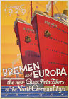 TU70 Vintage German Germany 1929 Cruise Ship Bremen Europa Travel Poster A2 A3